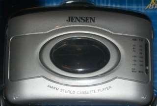 Jensen SCR 60 Stereo Cassette Player AM/FM Radio Xtra Bass New