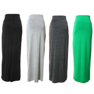 Gypsy Long Jersey Maxi Dress Skirt Ladies Tight Curve Hip Cotton Skirt