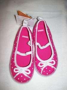GYMBOREE Cape Cod Cutie Pink with White Dot Canvas Shoes Sz 8