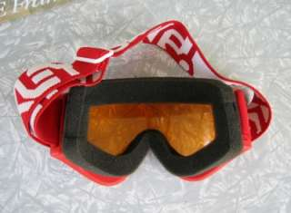 Vintage 1988 OAKLEY E FRAME red SKI GOGGLES in orig. case   Motocross