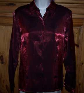 Ladies AGB Byer California Brand Dress Shirt Top Size Large