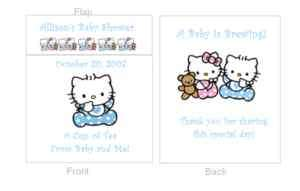 Hello Kitty Baby Shower Custom Tea Bag Favors