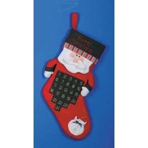 Merry Christmas Countdown Advent Calendar Stocking