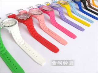 HOT New 1 PCS lot of top brand 12 colors ice watch fashion jelly