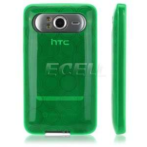 Ecell   GREEN SILICONE RUBBER GEL SKIN CASE COVER FOR HTC
