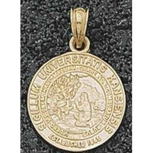 Kansas Jayhawks 14K Gold University Seal 5/8 Pendant