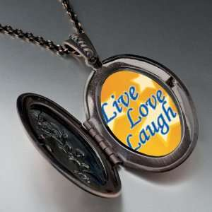 Live Love Laugh Photo Photo Locket Pendant Necklace