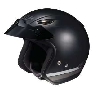 HJC CL 31 Racer II MC 5F Open Face Motorcycle Helmet Flat Black/Silver