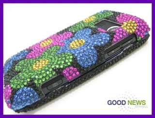 for Sprint LG Rumor Touch LN 510   Flower Crystal Diamond Bling Case