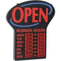 Newon LED Lighted Open Sign w/ Business Hours    Sams