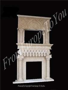 HAND CARVED GOTHIC MARBLE FIREPLACE MANTEL HY051