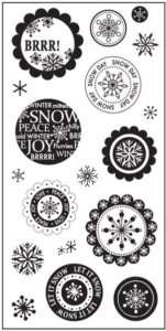 Fiskars 4x8 Clear Stamps  WINTER WONDERLAND  #496 020335036048