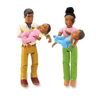 Loving Family Twin Time Dollhouse African American Dolls