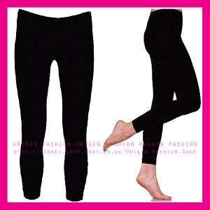 BLACK FULL ANKLE LONG LENGTH LEGGINGS LEGGINS SZ 12/14