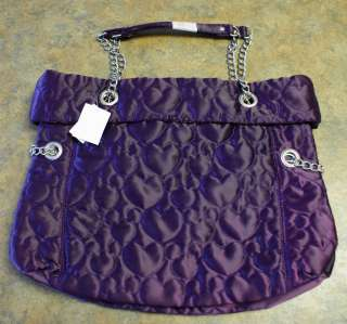 NWT Disney Parks MICKEY MOUSE Purple Large Quilted Tote Handbag