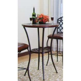 Southern Enterprises Inc. Metal Dining Table with Slate Top in Dark