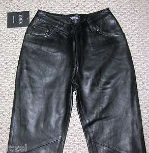 Womens Black Soft Lamb Leather Pants Size 4 NEW