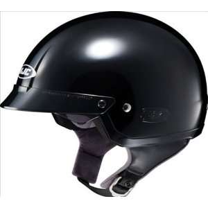 Gloss Black Open Face Motorcycle Helmet IS2 Size Large Automotive