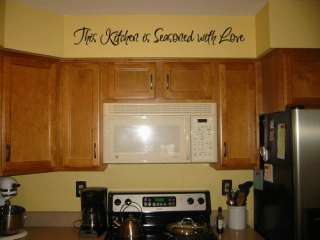Season This Kitchen Love Wall Quote Decor Decal 44
