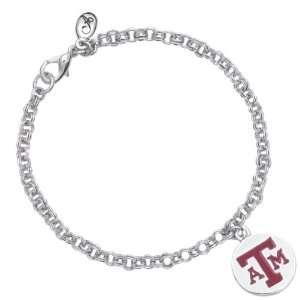 Annaleece Crystal TAMU Circle Logo   Bracelet: Home