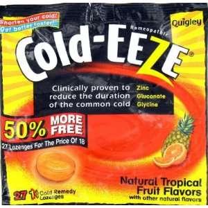COLD EEZE COLD REMEDY LOZENGES NATURAL FRUIT FLAVORS BONUS