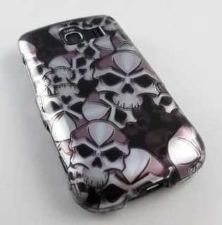 BLACK SIL SKULL PHONE COVER HARD CASE LG OPTIMUS S U V
