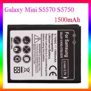 1500mAh Li ion Battery Samsung Galaxy MINI S5570 S5750