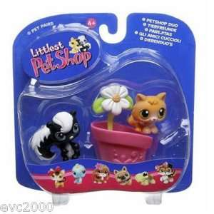 Littlest Pet Shop SKUNK #85 KITTEN #86 Retired *NEW 05