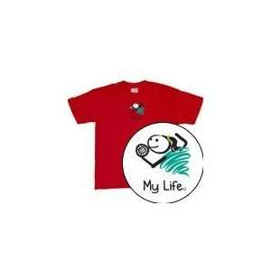 My Life   Volleyball Girl Short Sleeve T Shirt Adult   Shirts