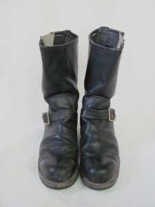 Leather Motorcycle Engineer Biker Riding Mens Boots Size 10E