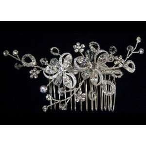 Rhinestone Flower Hair Comb Beauty