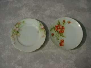 Antique TITANIC Royal Austria FLORAL PLATES 6 Roses POPPIES Fine