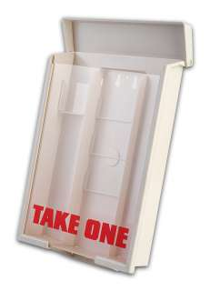 White Outside Brochure Holder Heavy Duty Flyer Box