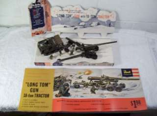 Vintage Revell Long Tom Gun and Tractor Factory Store Display Model w