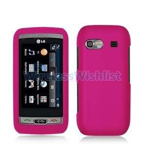 Hot Pink Hard Case Accessory for LG Vu Plus GR700 Phone