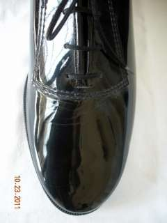 GATEWAY BLACK PATENT LEATHER TUXEDO FORMAL SHOES LACE UP 13WW