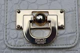 DKNY Patent Croco Leather Purse Handbag Crossbody NWT 795730765823