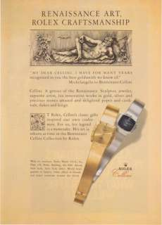1981 Rolex Benvenuto Cellini Collection VintagePrint Ad