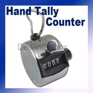 Digit Manual Hand Tally Mechanical Palm Click Counter
