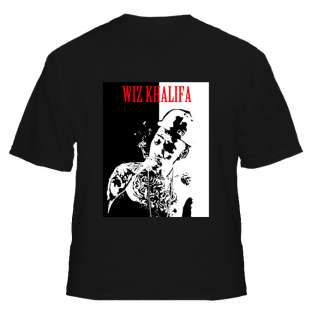 Wiz Khalifa Smoking Rap Gangster T Shirt