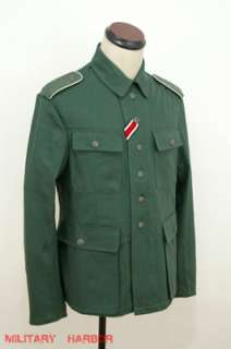 WWII German M43 heer summer HBT reed green field tunic S
