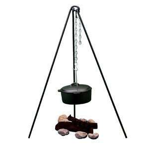 Portable Camp Camping Tri Pod Grill and Lantern Hanger
