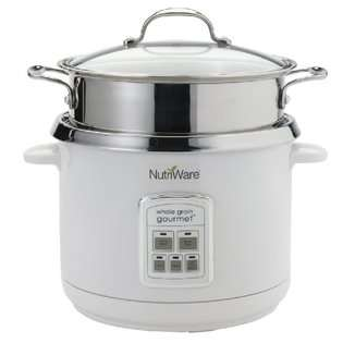 Whole Grain Gourmet Digital Rice Cooker, Food Steamer and Pasta Cooker