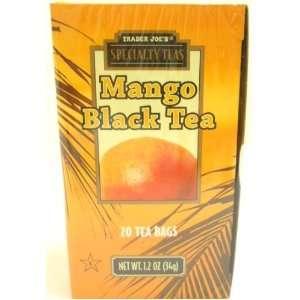 Trader Joes Speciality Mango Black Tea 20 Tea Bags Exotic, Refreshing