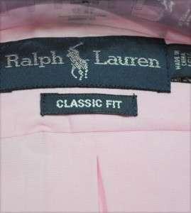 NWT Ralph Lauren POLO Mens Classic Fit Button Down Shirt Pink