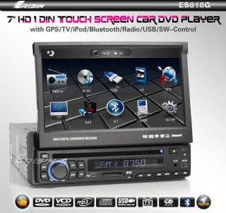 "ERISIN ES618G 7"" HD TOUCH SCREEN CAR DVD PLAYER GPS IPOD TV"