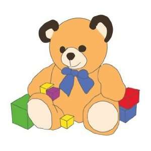 Teddy Bear with Blocks Counted Cross Stitch Kit Arts