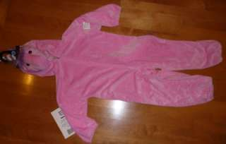 Girls Plush PINK UNICORN Costume Dress Up Size 2/3 4/5