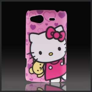 Hello Kitty Teddy Hearts Pink Designd hard case cover