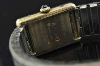 Vtg Cartier Sterling Silver Vermeil Ladies Tank Watch